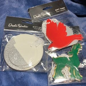 36 holiday gift tags dove deer silver glitter new